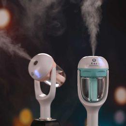 Wholesale 12V Car Steam Humidifier Mini Air Purifier Freshener Car Portable essential oil diffuser aroma mist Diffuser Rotation