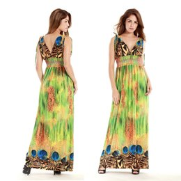 Sexy Women plus size XL-4XL v-neck sleeveless bohemian beach summer Party Dating wedding long dress skirt