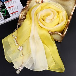 Wholesale 100 pure silk scarf gradient color normal size