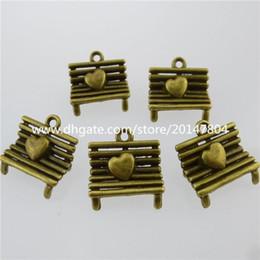 Wholesale 13093 Antique Bronze Tone Vintage Hollow Chair Love Heart Pendant