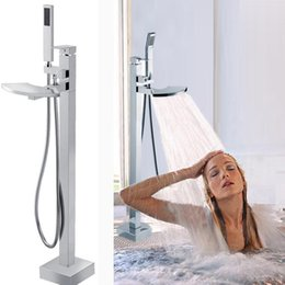 guangdong factory supply high quality Floor-standing bathtub brass shower floor stand shower faucet 160313#
