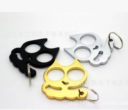 Wholesale Cartoon cat self defense refers to tiger double finger hand buckle special offer new ideas head iron fist fist buckle