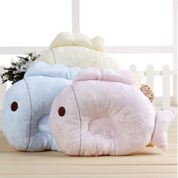 2017 CCOLING BABY FISH pillows cotton printing three color0-12m in summer season used 5pcs LOT NECK PROTECTION PILLOWS WHOLESALE