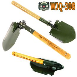 Wholesale 2016 chinese military shovel folding portable shovel WJQ multifunction camping fishing hunting hiking spade outdoor tools car rescue