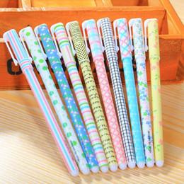 Wholesale 10 PC mm colorido de la flor de la pluma de tinta gel de PVC material de empaque de Kawaii de Corea plumas de gel de escritorio creativos Escuela regalo