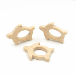 20 pcs Wooden Hand Cut Tortoise Wooden Teether Pendant Baby Toy Jewelry Pendant Beech Wood Infant Gift