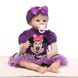 Wholesale 22 Inch cm Newborn Lifelike Soft Vinyl Silicone Reborn Dolls Handmade Boneca Realistic Baby Alive Doll Toys