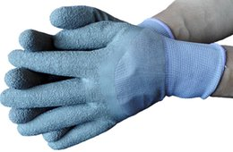 Metal Industrial Protective Glove Nylon Dipped Latex Wrinkle Glove For Working Protection Anti Slip Wrinkled Latex Security Glove