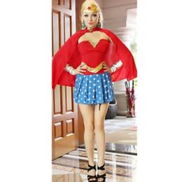 Wholesale Comics Secret Wishes Wonder Woman Corset Dress Costume Holloween Cosplay Super Costume Clothing Set Plus Size