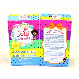 Thailand Gluta Whitening Soap rainbow soap OMO White Mix Fruits Color Alpha Arbutin Anti Dark Spot free shipping DHL