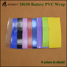 Wholesale 18650 mm battery casing glossy wrap skin heat shrink tubing battery for high brain batteries sony vtc4 vtc5 vtc6 samsung r lg hg2 he4