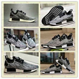 Cheap Original NMD Runner Primeknit Boost Shoes For Men, Hot Sale Grey Men Women NMD Runner Primeknit Running Sport Shoes