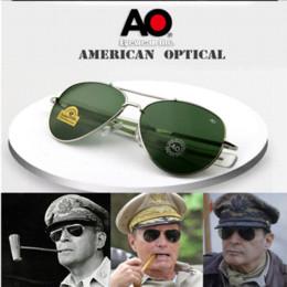 Wholesale 2016 Army Military AO Brand aviator sunglasses Masculino Men Sun Glasses Oculos lentes De Sol hombre Gafas Lunette de soleil