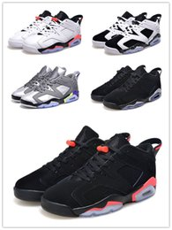 Wholesale Air retro VI low black white GS infrared Oreo chrome Ultraviolet men women size Basketball Shoes Good Quality Version US5