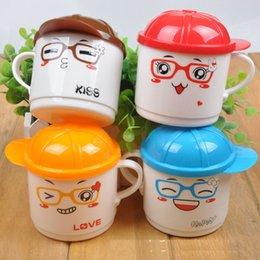 Wholesale Safety PP Plastic ml Colourful Cute Cartoon Animal Baby Kids Milk Water Tea Cup Mug