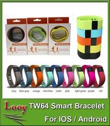 Promotion activité smartband tracker TW64 bracelet intelligent Band Fitness Activity Tracker Bluetooth 4.0 Smartband Sport Bracelet 5 couleurs pour ios android