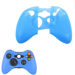 Controladores de xbox para la venta en Línea-2016 Venta CALIENTE piel de silicona caso protector de caucho para XBOX 360 Regulador del juego