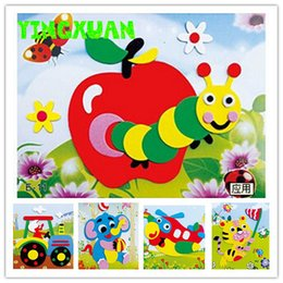 Wholesale 20 designs DIY Cartoon Animal D EVA Foam Sticker Puzzle Series E Early Learning Education Toys for Children