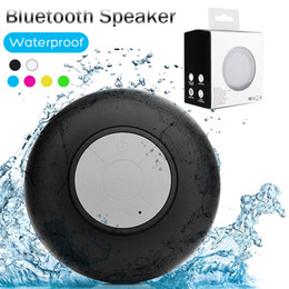 Mini Portable Subwoofer Shower Waterproof Wireless Bluetooth Speaker Car Handsfree Receive Call Music Suction Mic For iPhone Samsung Package