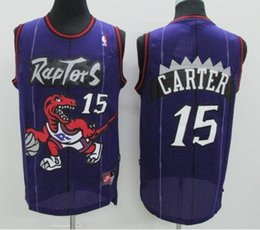 Wholesale Top quality embroidery raptors carter jersey LOWRY white blue throwback