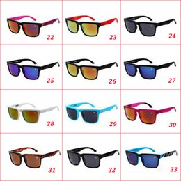 Wholesale 33 colors Brand Designer Ken Block Helm Sunglasses Hot sale Multicolour Coating Lens Men Oculos De Sol Sun Glasses Cheap eyewear