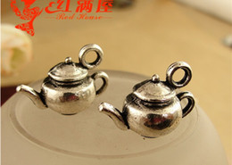 Wholesale A1043 MM Antique Bronze Retro teapot charm pendant beads jewelry Korea new mobile phone accessories cute pendant for bracelet