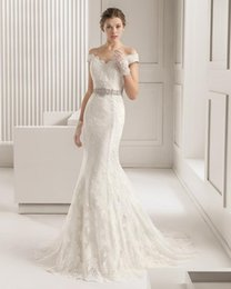 Sexy backless lace off the shoulder bride mermaid wedding dress 2017 lace dress new white in winter