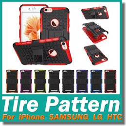 Wholesale Spider Heavy Duty Tire Pattern Armor Hybrid Cover Hard Case for LG G5 iPhone S plus s Samsung s7 HTC Smart Phones