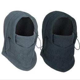 Wholesale 9Color winter warm Fleece beanies hats for men skull bandana neck warmer balaclava ski snowboard face mask Thickening catch balaclavas b272