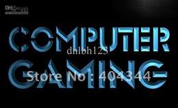 LB865-TM Computer Gaming Internet Cafe Shop Light Sign. Advertising. led panel
