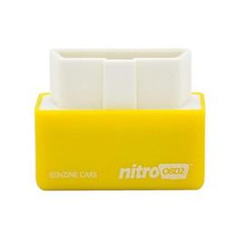 Wholesale Newly Best Quality NitroOBD2 Gasoline Benzine Cars Chip Tuning Box More Power Torque Nitro OBDII Plug and Drive Nitro obdii Tool High Qual