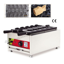 Wholesale Commercial ice cream taiyaki maker moulds open mounth fish waffle taiyaki machine street snack machine V specs Taiwan style Taiyaki mac