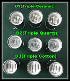DHL Free wax vaporizer Coil Triple quartz wax Coil fit glass globe atomizer ceramic Core ceramic Wax coil head
