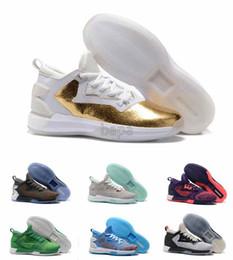 Wholesale Sport Light Sale - (With Box)2016 New Men Basketball Shoes D Lillard 2 Boost Men Sport Sneakers for Sale Size US8~13 Mens shoes