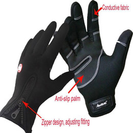 Wholesale Touch screen Gloves outdoor Cycling gloves shimano football baseball bicycling winter warm carrera Riding Bicycle gloves