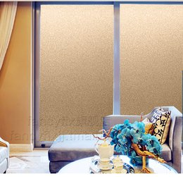 Wholesale 2016 New gold Frosted Privacy Frost Home Bedroom Bathroom Glass Window Film Sticker cm width optional