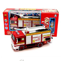 Wholesale Bubble car fire engine model universal automatic blowing bubble machine light music vehicle model toy Diecast Metal gift for boy