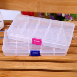 Wholesale New Grids Adjustable Jewelry Storage Case Box Craft Makeup Cosmetic Accessory Beads Candy Pills Organizer Organizador Container