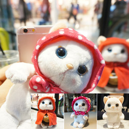 Wholesale 2016 Fashion Newest D Cartoon Cute Animal Panda Cat Plush Toys Cell Phone Case For iphone Hard Capa Phone Bag