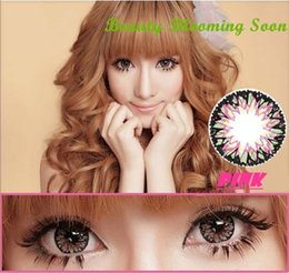 Wholesale 2016 New Milk Shake Big beautiful eyes contact lenses yearly use