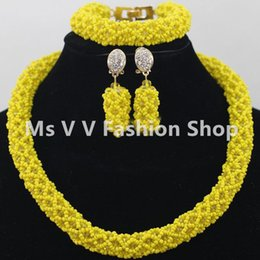 2019 single yellow Big Discount royal blue Unique Wedding Bridal Bridesmaid Rhinestone african style Bracelet Jewelry Set for Party Prom