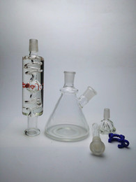 Wholesale Freezable coil system Glass Bongs Glass water Pipes with perc and inliner perc build a bong design Joint