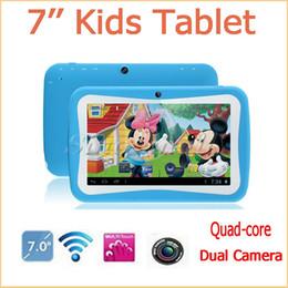 Caméras pour les filles en Ligne-7 pouces Tablet PC enfants RK3126 Quad Core 1.2GHz Android 5.1 ROM 8GB double caméra WIFI Tablet Pour Cadeaux Garçons Filles