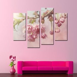4 Pieces Art Gallery Painting Pink Peonies Picture Print On Canvas Flower The Picture Decor Oil For living room Decoration