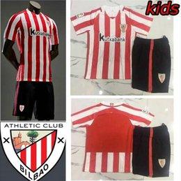 Wholesale 2016 Athletic Bilbao Kids jerseys child teens Shirt SUSAETA GURPEGUI MUNIAIN ADURIZ children youth boys Jersey Athletic Club