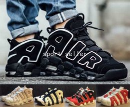 Wholesale 2017 Air More Uptempo OG Olympic Varsity Red Asia Hoop Pack White Gum Basketball Shoes For Men Women Big Pippen Sport Sneakers Trainers