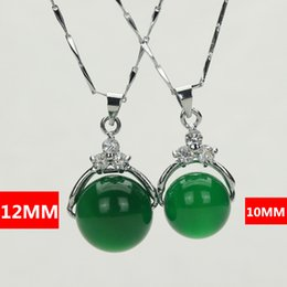 Wholesale Natural Red Agate Green Agate Pendant Chalcedony Female Silver Chain Necklace Pendant Jewelry Gifts mm and mm