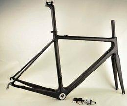 Descuento acabado mate super ligero cuadros de carbono 1000g UD mate Tamaño carretera cuadro de la bicicleta acabado de carbono: 49/52/54 / 56cm