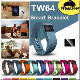 Wholesale TW64 Smart Bracelet Bluetooth Fitness Activity Tracker Band Wristband Smartband Sport Watch Not Fitbit Flex Fit Bit ios