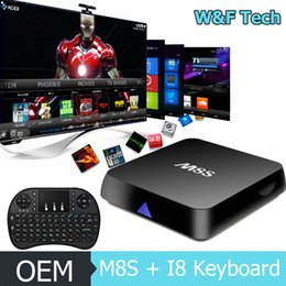 Wholesale M8S Android TV Box G G Dual WiFi M8S TV Box KODI Loaded Online Update I8 Wireless Keyboard Free